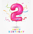 happy birthday celebration vector image vector image