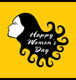 happy women day design women with curly hair vector image vector image