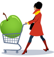 Healthy grocery shopping vector image