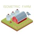 Isometric farm banner vector image vector image