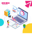 isometric the concept of business time management vector image