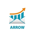 logo arrow vector image