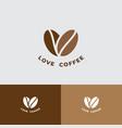 love coffee logo cafe restaurant emblem beans vector image