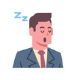 male napping emotion icon isolated avatar man vector image vector image