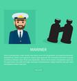 mariner profession fat web banner vector image