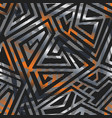 metal geometric pattern with carbon effect vector image vector image