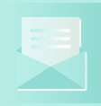 modern a letter icon blue vector image vector image