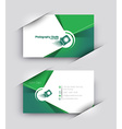Modern Business Card Set vector image vector image