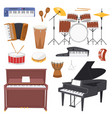 musical instruments music concert with vector image vector image