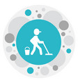 of hygiene symbol on mopping vector image vector image