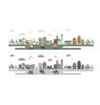 old town and urban traffic vector image vector image