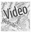 Online Video Websites Popular Alternatives Word vector image vector image