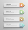 paper infographic8 vector image vector image