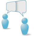 people symbols share talk communication speech bub vector image vector image