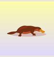 platypus icon cartoon endangered wild australian vector image vector image