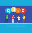 quiz flat concept young vector image vector image