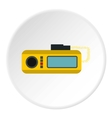 Radio taxi icon flat style vector image
