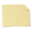Rectangular yellow paper sticker note vector image vector image