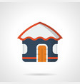 sea vacations hut flat color icon vector image vector image