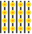 seamless pattern with yellow flowers and black vector image