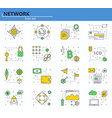 set blockchain technology and vector image vector image