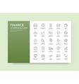Set of Finance and Money Icons can be used as Logo vector image vector image