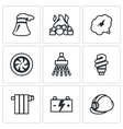 Set of Thermal power plant Icons vector image vector image