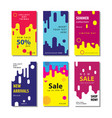 set sale banner background with dynamic rounded vector image vector image