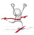 Simple People Race Winning vector image