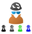 spotted spy flat gradient icon vector image