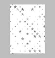 star pattern brochure template - stationery vector image vector image