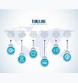timeline infographic world business target diagram vector image vector image