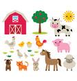 farm animals set vector image
