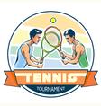 Emblem of tennis tournament vector image