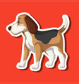 a dog sticker character vector image vector image