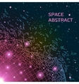Abstract background with exploded shiny grid vector image vector image