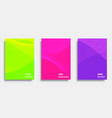 abstract cover template design set vector image