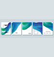 abstract poster bright blue set vector image vector image