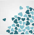 abstract seamless heart pattern ink black and vector image vector image