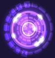 Abstract technology violet background with circles vector image vector image