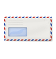 Air mail DL envelope with window for address vector image