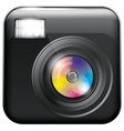 app icon with camera lens vector image