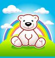bear rainbow vector image