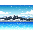 beauty snow mountain with landscape background vector image vector image