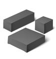 black realistic box Mockup Template vector image vector image