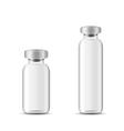 Blank glass medical bottle vector image vector image