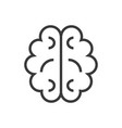 brain line icon sign on vector image vector image