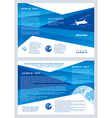 brochure airplane flight tickets air fly cloud sky vector image vector image