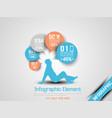 business man infographic option three 9 orange vector image
