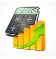 Calculator graph vector image vector image